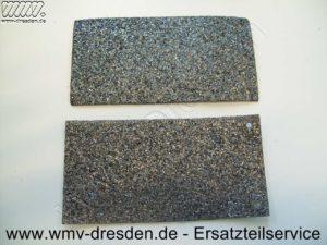 Schleifunterlage >>> 2er Pack 150 mm x 77 mm, an einer Stirnseite 3 Befestigungslöcher <<< - (Art.Nr. 490823-F02)