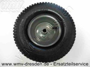 Hinterrad mit Felge, Schlauch und Mantel, Durchmesser außen 32 cm, Dicke 10 cm, Ø Achsbohrung ca. 19 mm - (Art.Nr. 581420701-ELE)