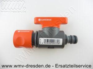 977-50 Regulierventil / Absperrhahn für Gardena-Klick-System