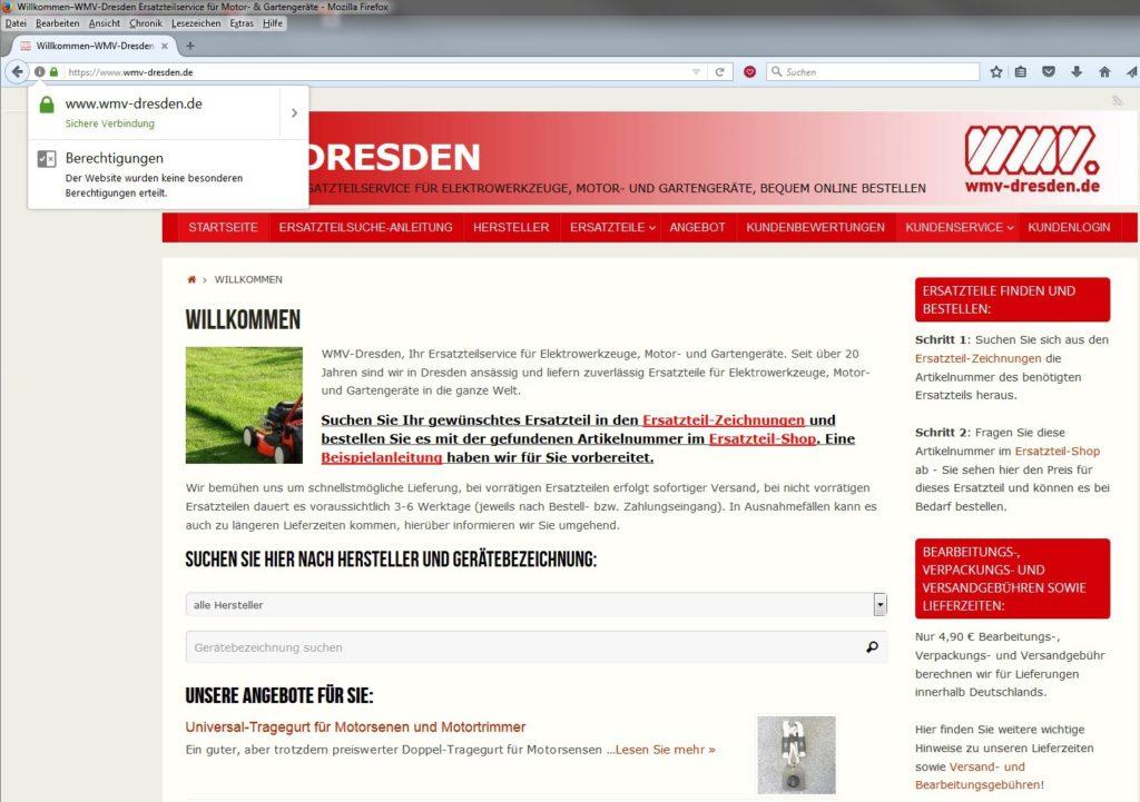 WMV-Dresden Mozilla Firefox Browser